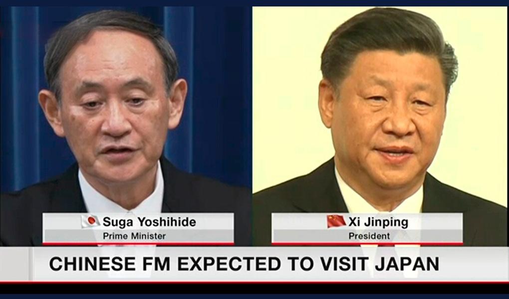 Encontro entre Suga e chanceler chinês é planejado durante visita ao Japão