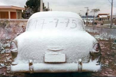Alerte de previsão de neve em Curitiba