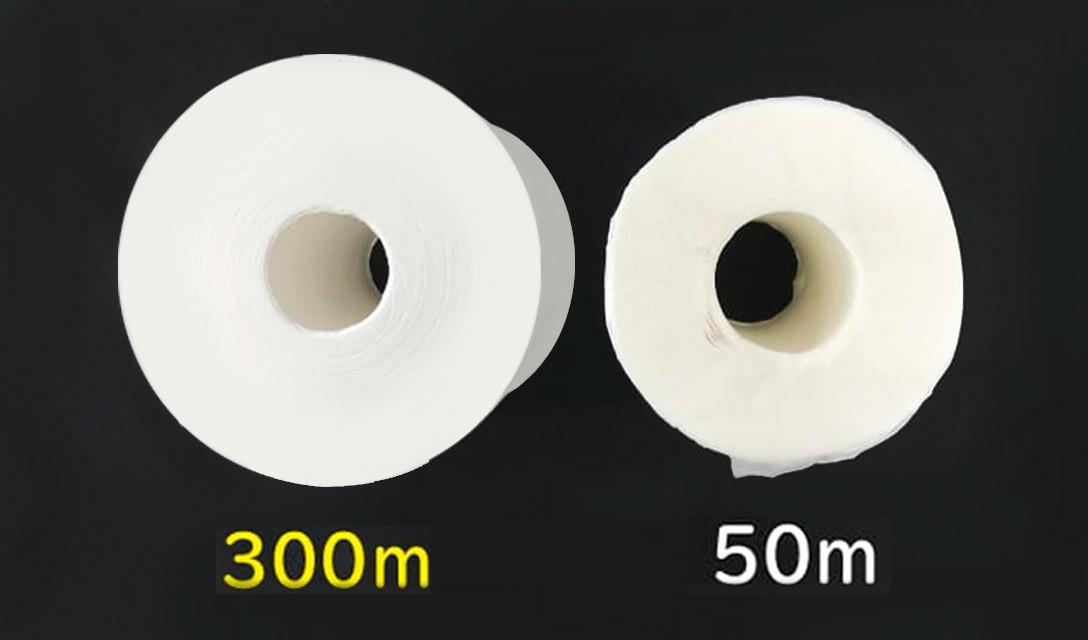 Rolos de papel higiênico ultralongos cortam o desperdício