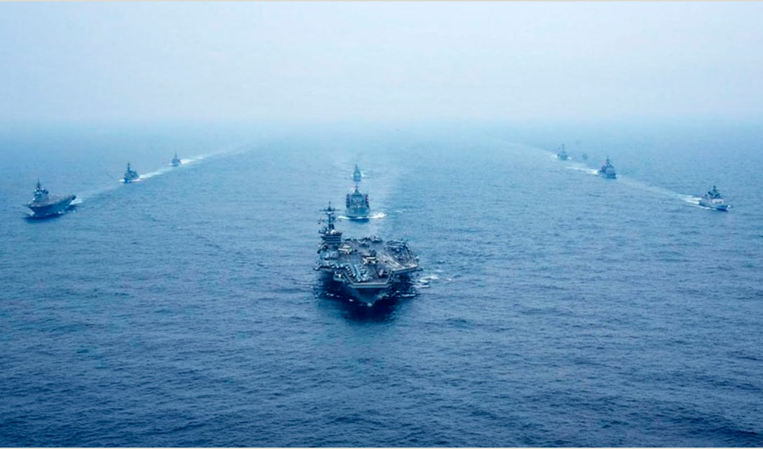 EUA, Japão, Austrália e Índia iniciam treinamento naval conjunto